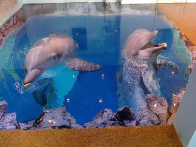 Dolphins on the floor - 3D floor