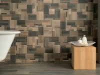 Tile wood bathroom design