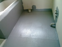 Screed and waterproofing the floor in the bathroom