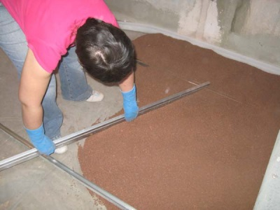 Dry screed in the bathroom