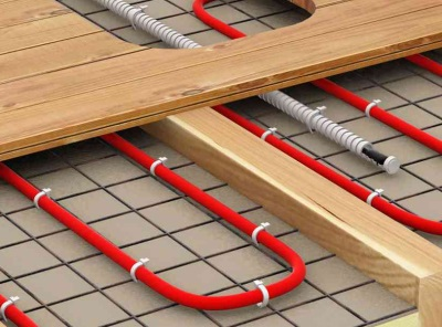 Installation of floor heating cables