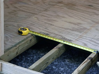 The base of waterproof plywood