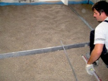 Dry screed of gypsum boards