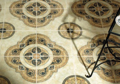 Flooring ceramic tile