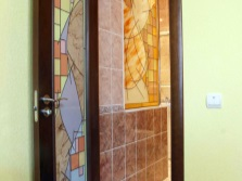 Stained glass in the design of doors