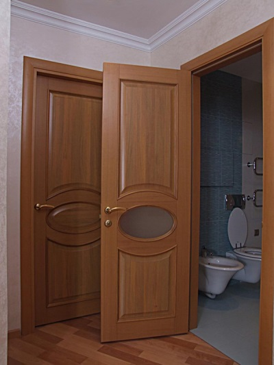 The doors to the bathroom MDF