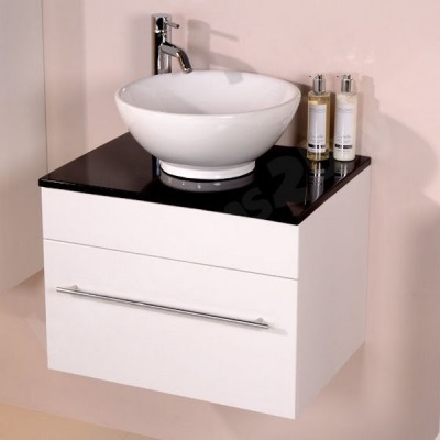Stand mounted 60 cm washbasin for bathroom