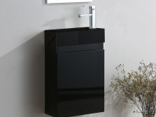 Black hanging cupboard small with washbasin