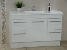 Cupboard under sink white