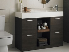Stand floor with wash basin in the bathroom