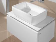 Stand mounted white 60 cm under washbasin