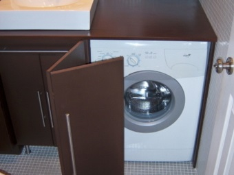 MDF cabinet for a washing machine