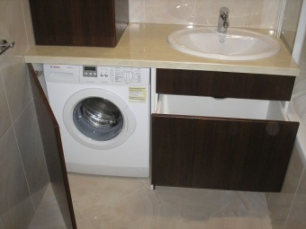 Placement - Cabinets under the washing machine in the bathroom