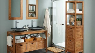 Features production of bathroom furniture from Leroy Merlin