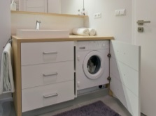 Advantages of bathroom furniture with built-in washing machine