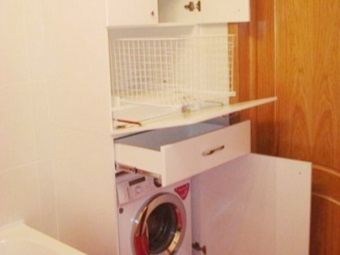 Built-in washing machine and furniture for her