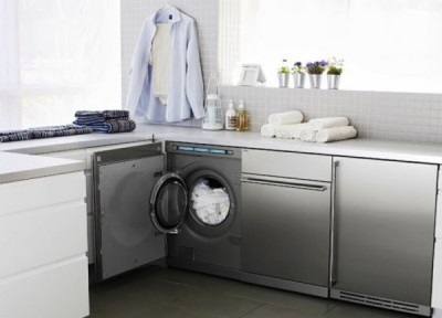 Furniture for embedded washing machine in the bathroom