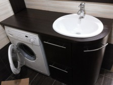 The acquisition of built-in furniture for a bathroom with washing machine