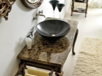 Beautiful dressing table in the bathroom