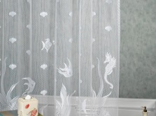 Blind tulle fabric in bathroom