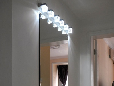LED wall lights in the bathroom