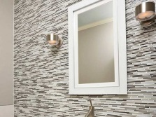 Materials for wall lights in the bathroom - metal fixtures