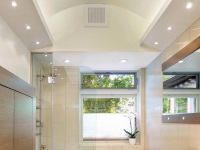 Built-in lighting for the bathroom ceiling