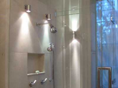Weatherproof spotlights for bathroom