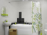 Corner Bath Curtain