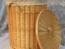 Wicker laundry baskets for the bathroom