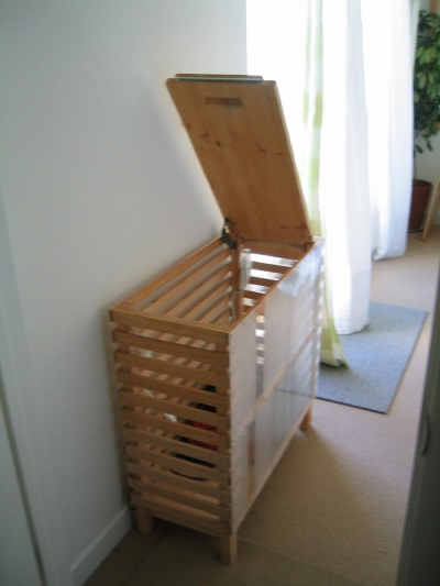 Wooden laundry baskets for the bathroom