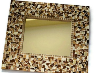 mirror decorated with mosaics with their hands for the bathroom