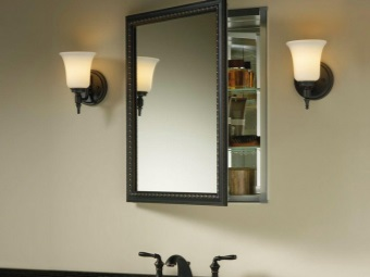 Hanging a mirror in the bathroom , wardrobe