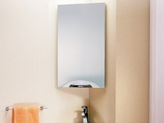 Corner hanging mirror - cabinet for bathroom