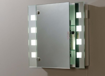 Mirror with cabinet