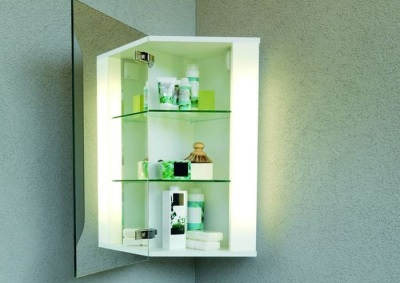 Corner cabinet with a mirror for the bathroom