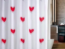 Curtain with hearts