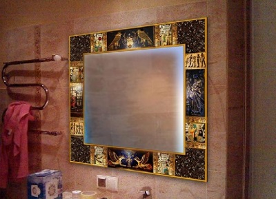 Painted frame mirror