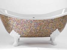 Bath , decorated with mosaics