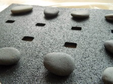 Floor rubber mat with holes