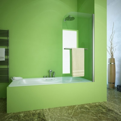 Single leaf curtain for the bathroom