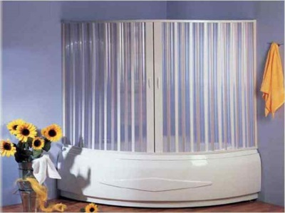 Sliding shutters for corner baths