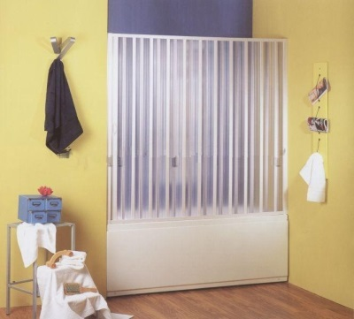 Plastic curtains for the bathroom