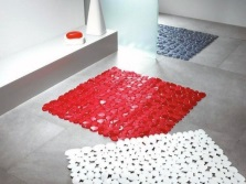A variety of colors rubber mats for bathroom