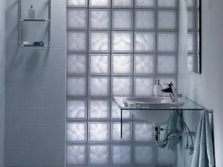 shower in the cockpit of glass blocks