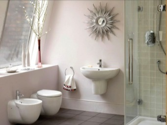 Accessories in the interior of the bathroom , room with WC
