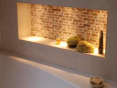 Niche backlit bathroom