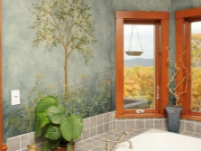 Wall painting in the bath water-resistant paints