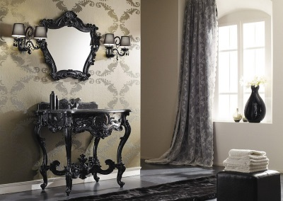 Bathroom in the Baroque style of the room - beautiful furniture