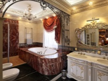 Bath in the bathroom in the Baroque style
